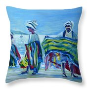 Panama.beach Market Throw Pillow