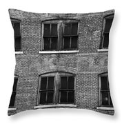 Pancake Flour Black And White Throw Pillow
