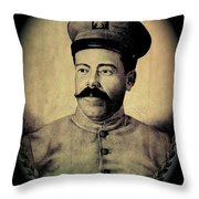 Pancho Villa In Military Uniform Drawing No  Date-2013  Throw Pillow