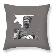 Pancho Villa  Portrait In Military Uniform No Location Or Date-2013 Throw Pillow