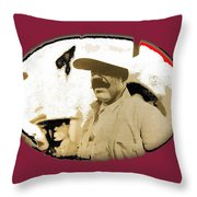 Pancho Villa   Portrait Unknown Mexico Location And Date-2013  Throw Pillow