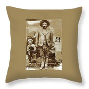 Pancho Villa  Portrait With Children No Location Or Date-2013 Throw Pillow