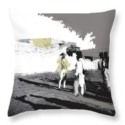 Pancho Villa Talking To Firing Squad Sonora C.1914-2013 Throw Pillow
