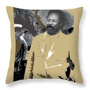 Pancho Villa  Wearing Sombrero Unknown Location 1914-1920-2013 Throw Pillow