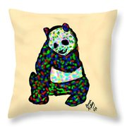 Panda A La Fauvism Throw Pillow
