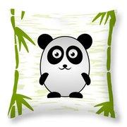 Panda - Animals - Art For Kids Throw Pillow