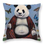 Panda Buddha Throw Pillow