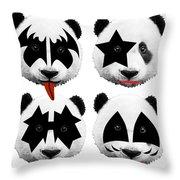 Panda Kiss  Throw Pillow