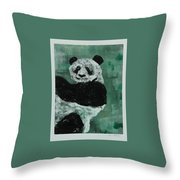Panda - Monium Throw Pillow