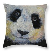 Panda Smile Throw Pillow