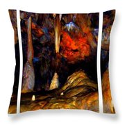 Panels Of A Cave Throw Pillow