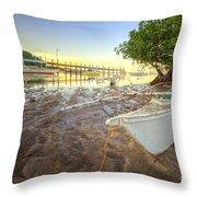 Panglao Port Sunset 4.0 Throw Pillow