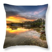 Panglao Port Sunset Throw Pillow