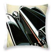 Panhard Car Advertisement Throw Pillow