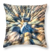 Color Zoom Throw Pillow