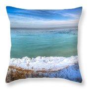 Panning Lake Michigan Throw Pillow