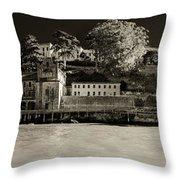 Panorama Alcatraz Up Close Throw Pillow