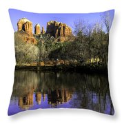 Panorama At Red Rocks Crossing In Sedona Az Throw Pillow