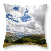 Panorama Atop Independence Pass Throw Pillow