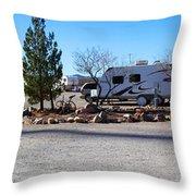 Panorama Cedar Cove Rv Park Street 2 Throw Pillow
