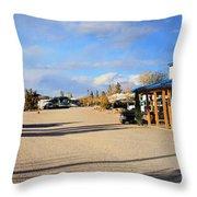 Panorama Cedar Cove Rv Park Street 3 Throw Pillow
