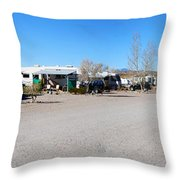 Panorama Cedar Cove Rv Park Street 4 Throw Pillow