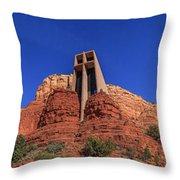 Panorama Chapel Of The Holy Cross Sedona Az Throw Pillow