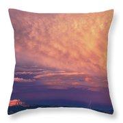 Panorama Lightning Paunsaugunt Plateau Near Bryce Canyon Np Throw Pillow