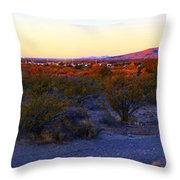 Panorama Morning View Of Mountains Throw Pillow