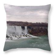 Panorama - Niagara Falls Throw Pillow