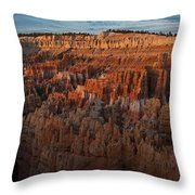 Panorama Of Bryce Canyon Amphitheater Throw Pillow