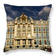 Panorama Of Catherine Palace Throw Pillow by David Smith