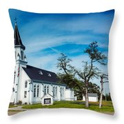 Panorama Of Sts. Cyril And Methodius Catholic Church - Dubina Texas Throw Pillow