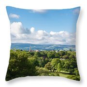 Panorama Of Phoenix Park And Wicklow Mountains Throw Pillow