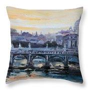 Panorama Of Rome Throw Pillow
