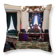 Panorama Of The Vermont State House Montpelier Vermont Throw Pillow