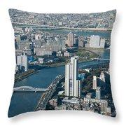 Panorama Of Tokyo Throw Pillow
