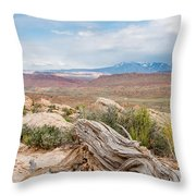 Panorama Point - La Sal Mountains - Arches National Park - Ut Throw Pillow