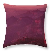 Panorama Pre-dawn At Point Imperial Grand Canyon National Park Throw Pillow