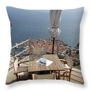 Panorama Restaurant Throw Pillow