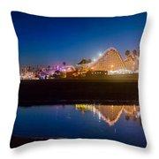 Panorama - Santa Cruz Boardwalk Throw Pillow