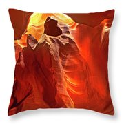 Panorama Slot Canyon Arizona Throw Pillow