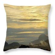 Panorama Sunset Aparaman And Towyen Tepuis Kavak Venezuela Throw Pillow