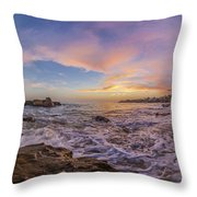 Panorama The Whole Way Round The Cove Throw Pillow