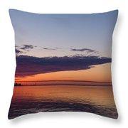 Panorama - Toronto Sunrise In June  Throw Pillow