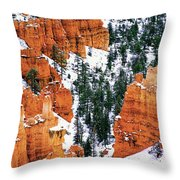Panorama Winter Storm Blankets Thors Hammer And Bryce Canyon Throw Pillow