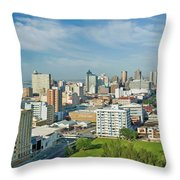 Panoramic Aerial View Of Durban, South Throw Pillow