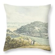 Panoramic After View, From The Red Book Throw Pillow