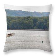 Panoramic Barge Throw Pillow