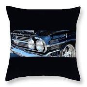 panoramic black Impala Throw Pillow